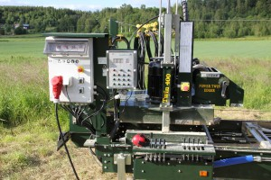 Sawmill equiped with Electronic setworks